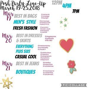 Jewelry - PoshPartyLineup March 18-25,2018
